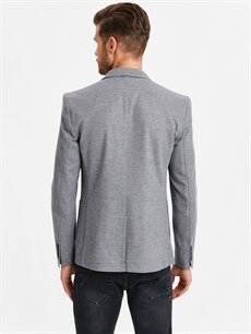 %5 Pamuk %95 Polyester %100 Polyester Dar Kısa Ceket Dar Kalıp Blazer Ceket