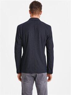 %72 Poliester %27 Viskoz %1 Elastan %100 Polyester Dar Orta İnce Ceket Dar Kalıp Desenli Blazer Ceket