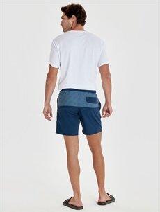 %100 Polyester %100 Polyester  Diz Hizası Boy Çizgili Deniz Şortu