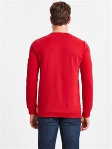 %65 Pamuk %35 Polyester  Bisiklet Yaka Baskılı Sweatshirt