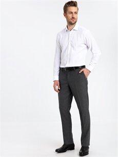 Gri Slim Fit Gabardin Takım Elbise Pantolonu 9SJ773Z8 LC Waikiki