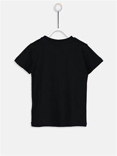 %100 Pamuk Baskılı Kısa Kol Tişört Bisiklet Yaka Erkek Bebek Yazı Baskılı Pamuklu Tişört