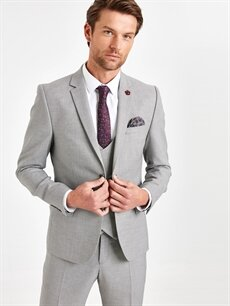%73 Polyester %2 Elastan %25 Viskoz %100 Polyester  Ekstra Dar Kalıp Blazer Ceket