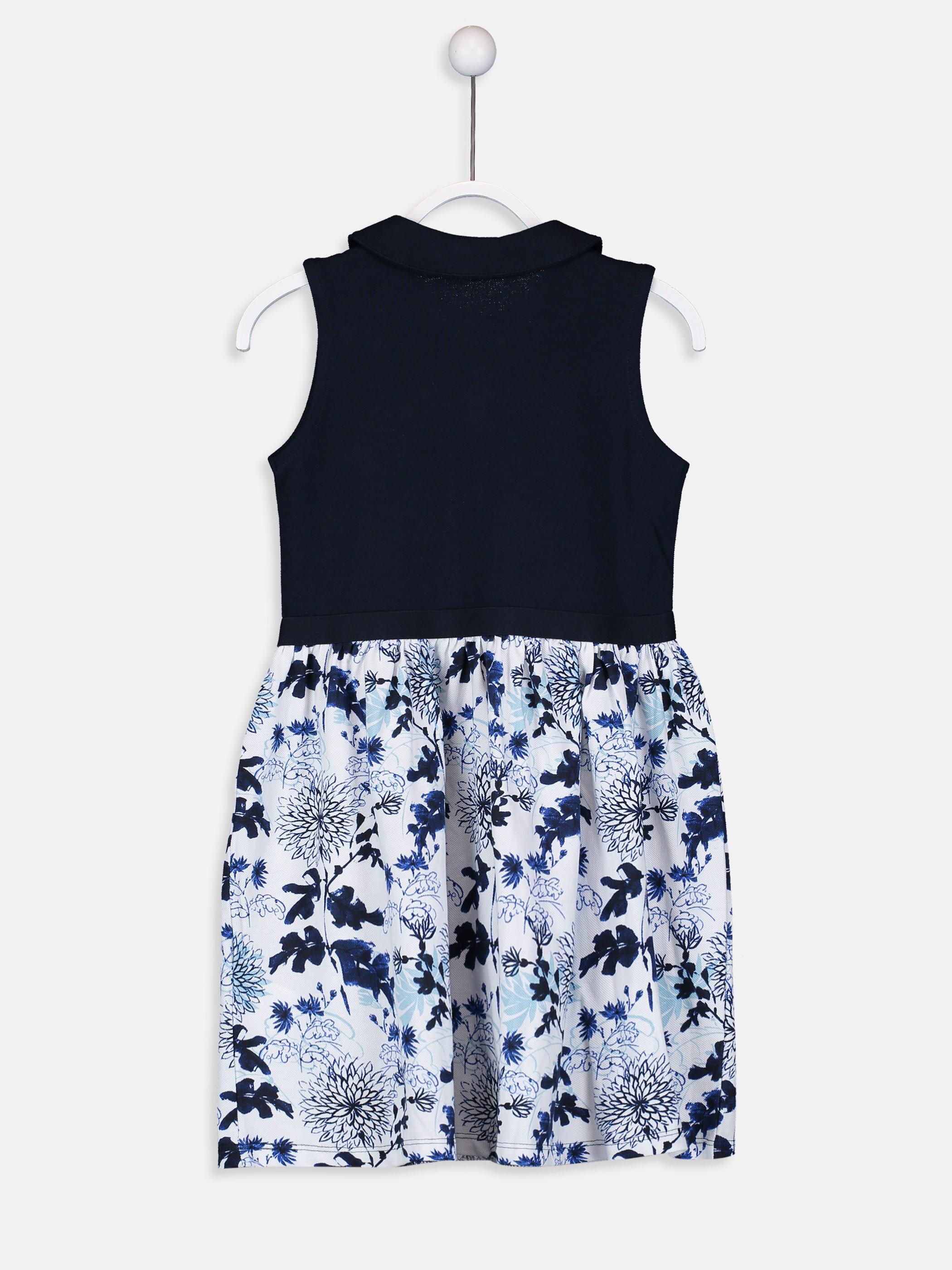 Kız Çocuk Çiçek Desenli Elbise -9SK021Z4-HRC