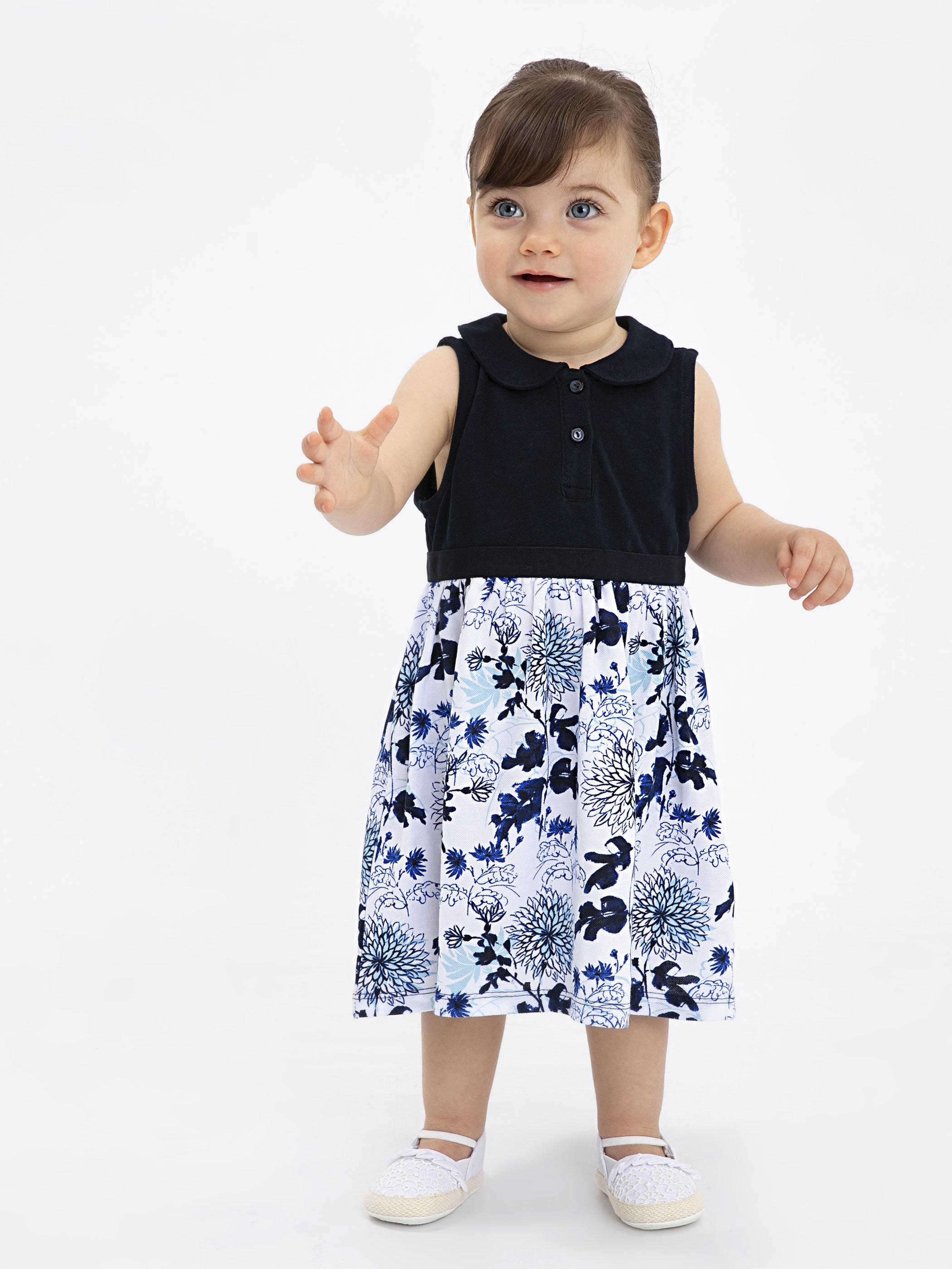 Kız Bebek Desenli Elbise -9SK024Z1-HRC