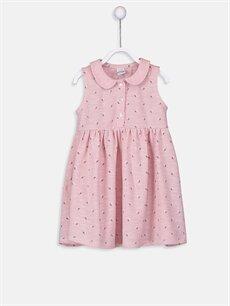 Pembe Kız Bebek Desenli Elbise 9SK095Z1 LC Waikiki