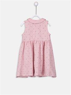 %49 Pamuk %51 Polyester Desenli Kız Bebek Desenli Elbise