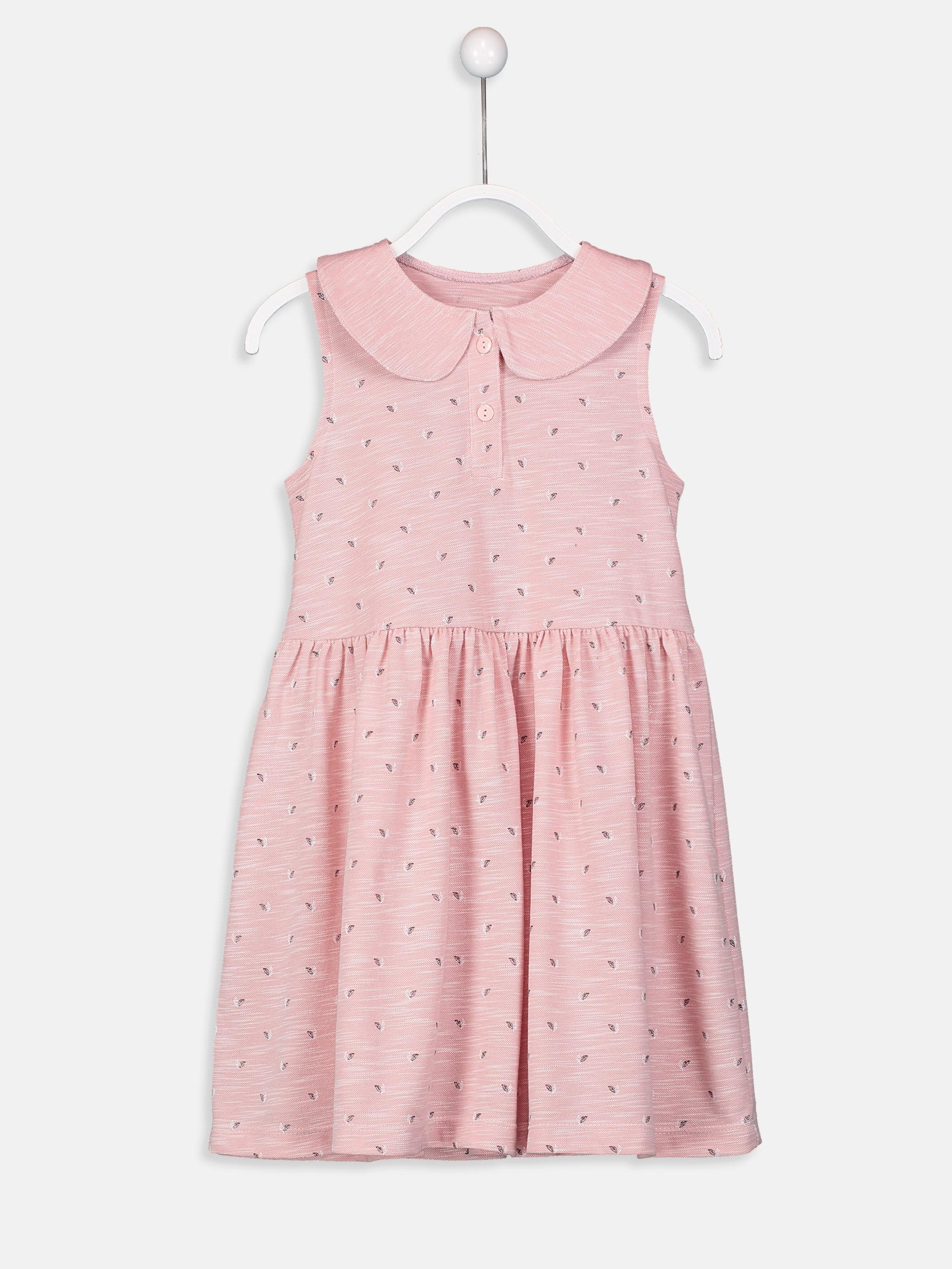 Kız Çocuk Baskılı Elbise -9SK100Z4-PGE