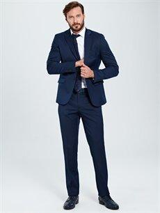 %67 Polyester %33 Viskon Standart Kalıp Akıllı Kumaş Blazer Ceket