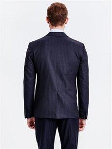%67 Polyester %32 Viskoz %1 Elastan %100 Polyester Orta Ceket Standart Standart Kalıp Takım Elbise Ceketi