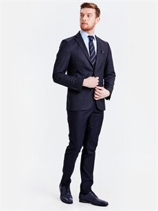 Erkek Standart Kalıp Takım Elbise Ceketi
