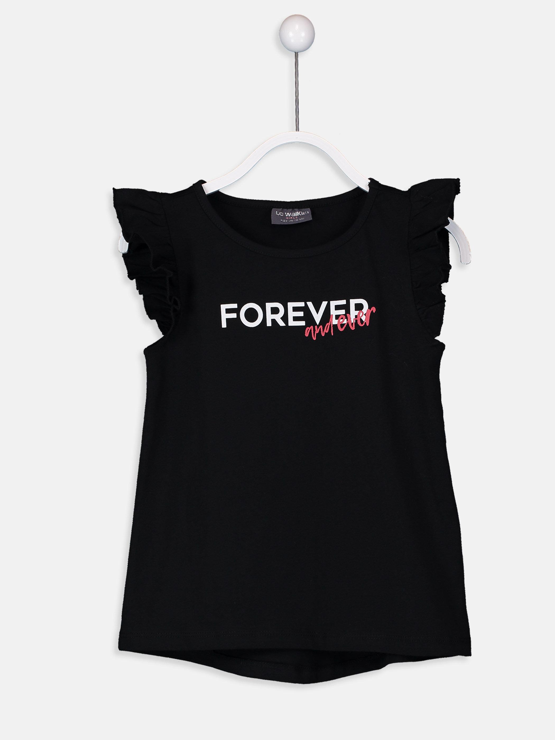 Kız Çocuk Yazı Baskılı Pamuklu Tişört -9SK557Z4-CVL