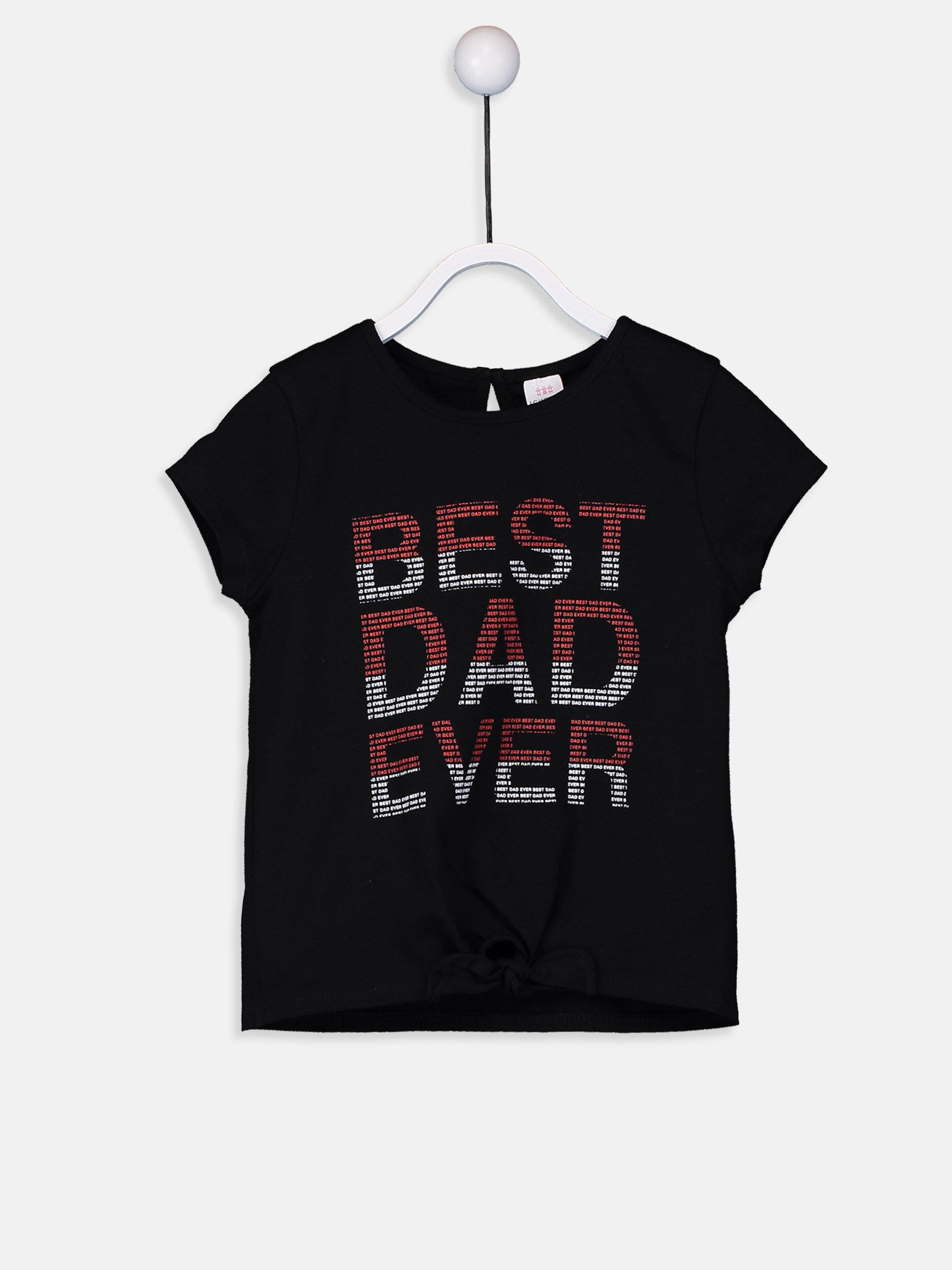 Kız Bebek Yazı Baskılı Pamuklu Tişört -9SK565Z1-CVL