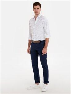 Lacivert Slim Fit Gabardin Pantolon 9SK929Z8 LC Waikiki