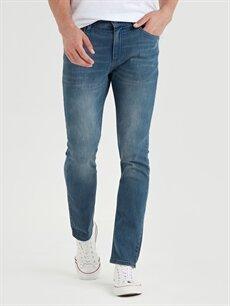 %86 Pamuk %13 Polyester %1 Elastan Normal Bel Normal Jean 779 Regular Fit Jean Pantolon