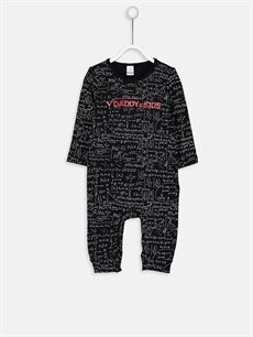 Siyah Erkek Bebek Yazı Baskılı Tulum 9SL508Z1 LC Waikiki