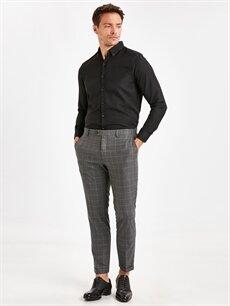 Gri Slim Fit Bilek Boy Gabardin Takım Elbise Pantolonu 9SL995Z8 LC Waikiki