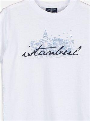 Erkek Çocuk Şehir Baskılı Pamuklu Tişört -9SN155Z4-J5E