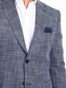 %53 Polyester %47 Viskoz Standart Kalıp Blazer Ceket