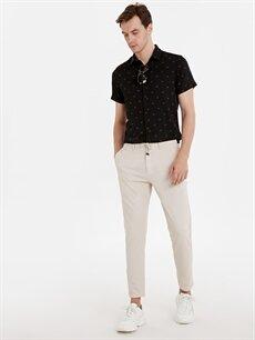 Bej Slim Fit Bilek Boy Spor Pantolon 9SN544Z8 LC Waikiki