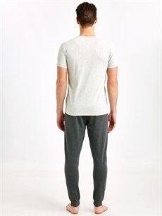 %49 Pamuk %51 Polyester Standart Pijamalar Standart Kalıp Baskılı Pijama Takım