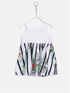 %100 Pamuk Desenli Kız Bebek Desenli Pamuklu Elbise