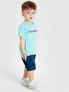 Erkek Bebek Erkek Bebek Desenli Pamuklu Şort