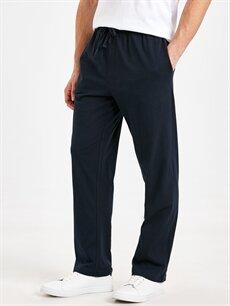 %100 Pamuk Normal Pantolon Normal Bel Pilesiz Jogger Pamuklu Pantolon
