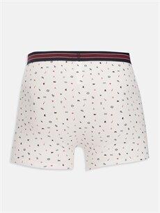 %95 Pamuk %5 Elastan Standart İç Giyim Alt Esnek Kumaş Standart Kalıp Boxer 3'lü