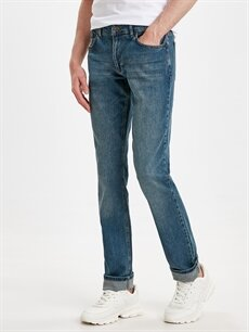 %99 Pamuk %1 Elastan Normal Bel Normal Jean 779 Regular Fit Jean Pantolon