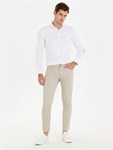 Bej Skinny Fit Bilek Boy Pantolon 9SS432Z8 LC Waikiki