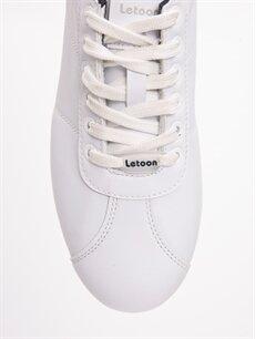Erkek Letoon Genç Erkek Bağcıklı Beyaz Spor Ayakkabı