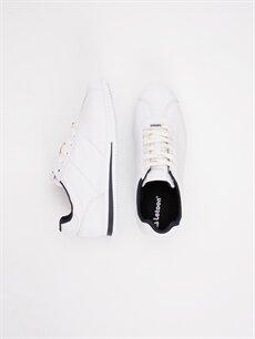 Beyaz Letoon Genç Erkek Bağcıklı Beyaz Spor Ayakkabı