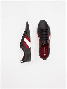 Diğer malzeme (poliüretan) Tekstil malzemeleri Ayakkabı Erkek Bağcıklı Spor Ayakkabı
