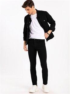 Siyah 750 Slim Fit Jean Pantolon 9ST364Z8 LC Waikiki