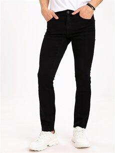 %78 Pamuk %20 Polyester %2 Elastan Dar Jean 750 Slim Fit Jean Pantolon