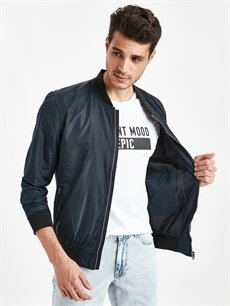 %100 Polyester %100 Polyester Orta Dar Orta Mont Slim Fit Bomber Mont