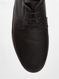 LC Waikiki Siyah Erkek Bağcıklı Deri Ayakkabı