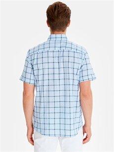 Erkek Regular Fit Pamuklu Ekose Desenli Gömlek
