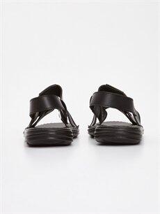 Erkek Deri Görünümlü Sandalet