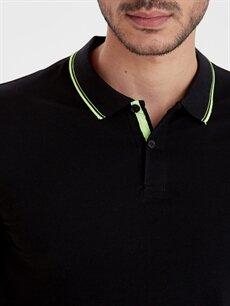 %96 Pamuk %4 Elastan Slim Fit Polo Yaka Kısa Kollu Tişört