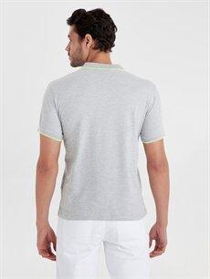 Erkek Slim Fit Polo Yaka Kısa Kollu Tişört