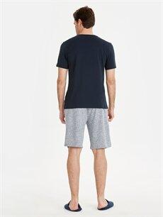 %48 Pamuk %52 Polyester Standart Pijamalar Standart Kalıp Baskılı Pijama Takım