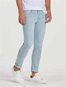 %75 Pamuk %22 Polyester %3 Elastan Normal Bel Dar Jean 760 Skinny Fit Jean Pantolon