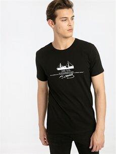 Siyah Atatürk İmzası Baskılı Tişört 9SY804Z8 LC Waikiki