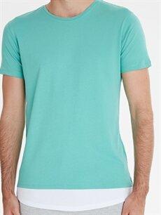 %100 Pamuk Bisiklet Yaka Kısa Kollu Basic Tişört