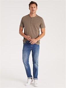 %100 Pamuk Düğme Yakalı Basic Kısa Kollu Tişört
