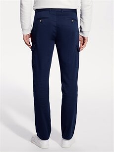 %98 Pamuk %2 Elastan Regular Fit Armürlü Pantolon