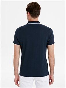 Erkek Slim Fit Polo Yaka Jakarlı Tişört