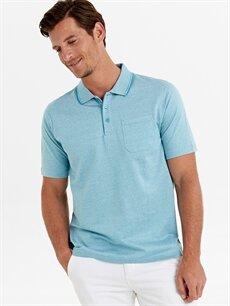 %100 Pamuk Düz Standart Kısa Kol Tişört Polo Polo Yaka Kısa Kollu Pike Basic Tişört